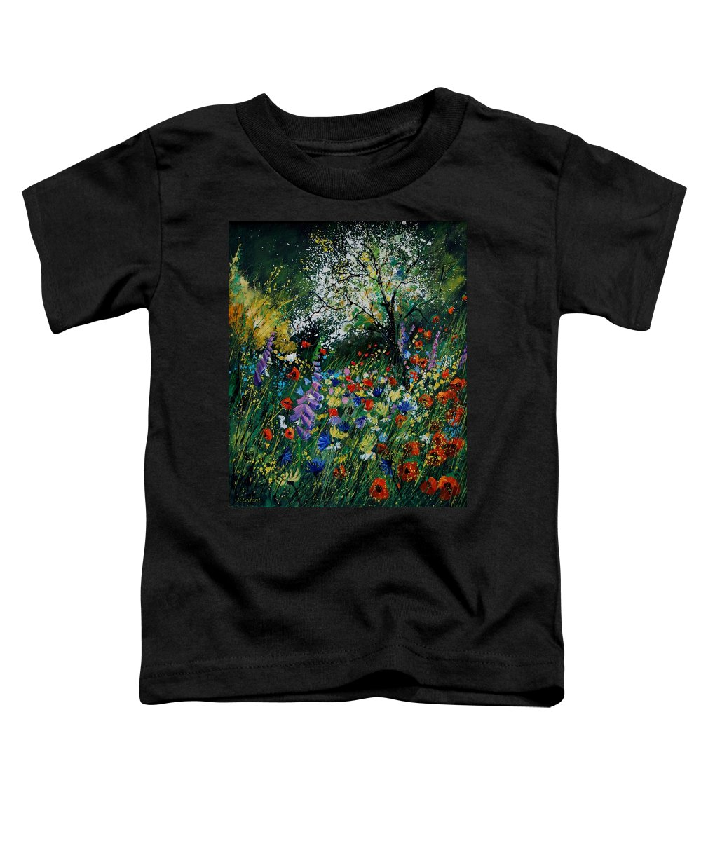 Flowers Toddler T-Shirt featuring the painting Garden Flowers by Pol Ledent