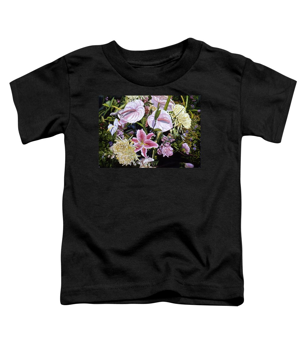 Watercolor Toddler T-Shirt featuring the painting Garden Song by Teri Starkweather