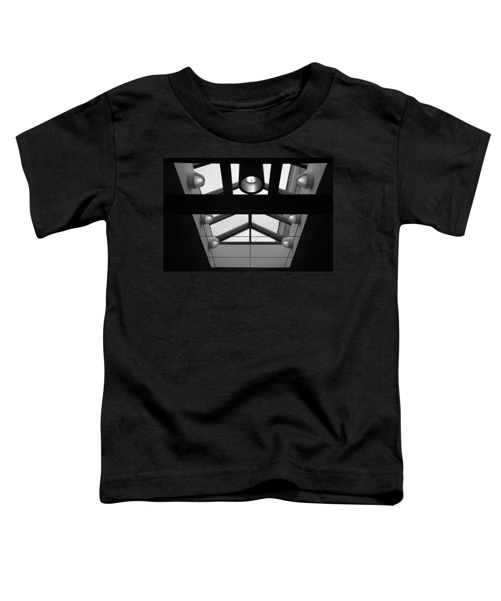 Black And White Toddler T-Shirt featuring the photograph Glass Sky Lights by Rob Hans