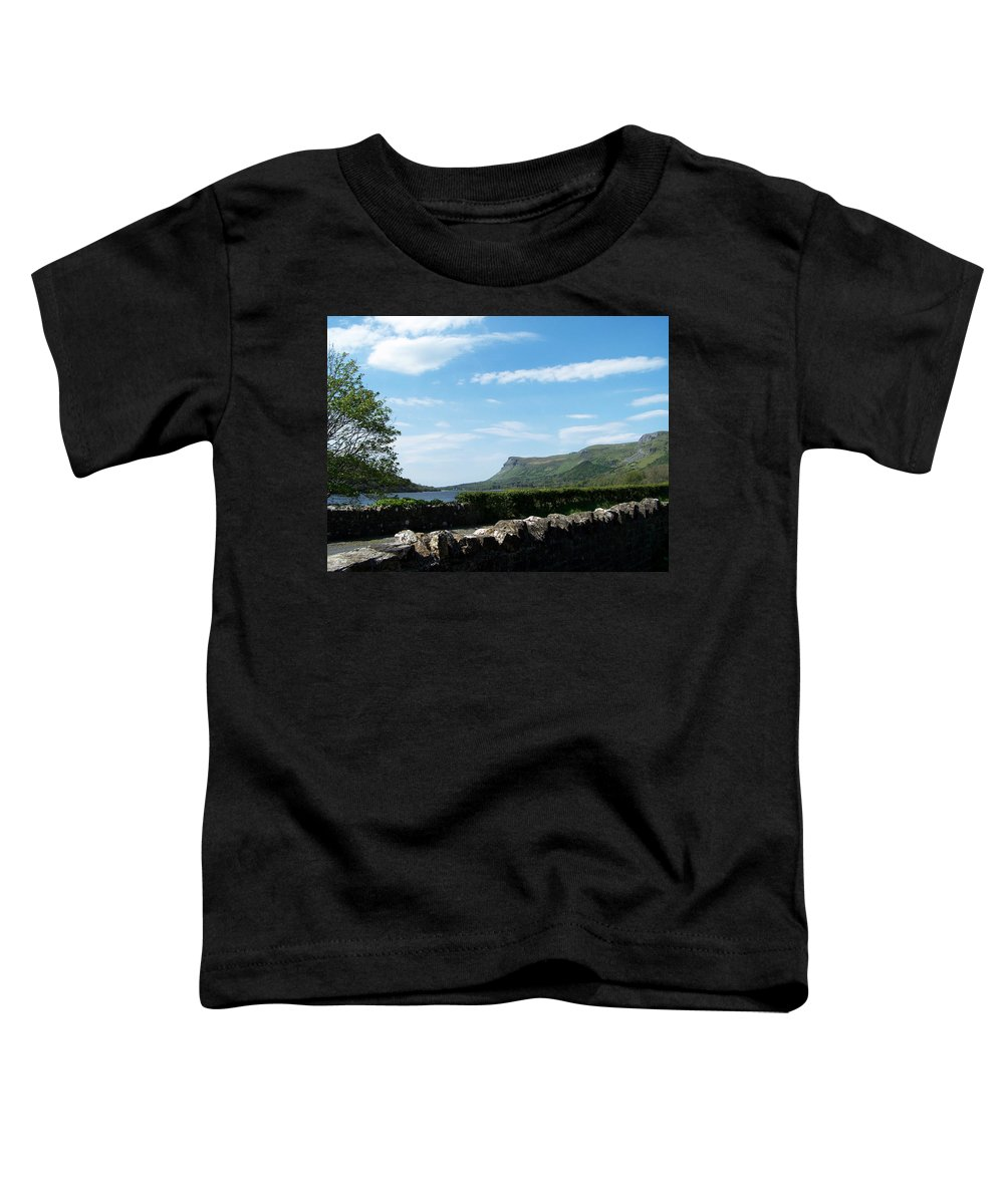 Irish Toddler T-Shirt featuring the photograph Glencar Lake With View Of Benbulben Ireland by Teresa Mucha