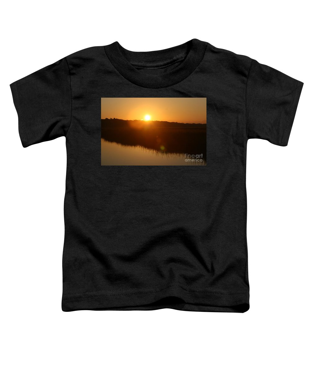 Glow Toddler T-Shirt featuring the photograph Gold Morning by Nadine Rippelmeyer