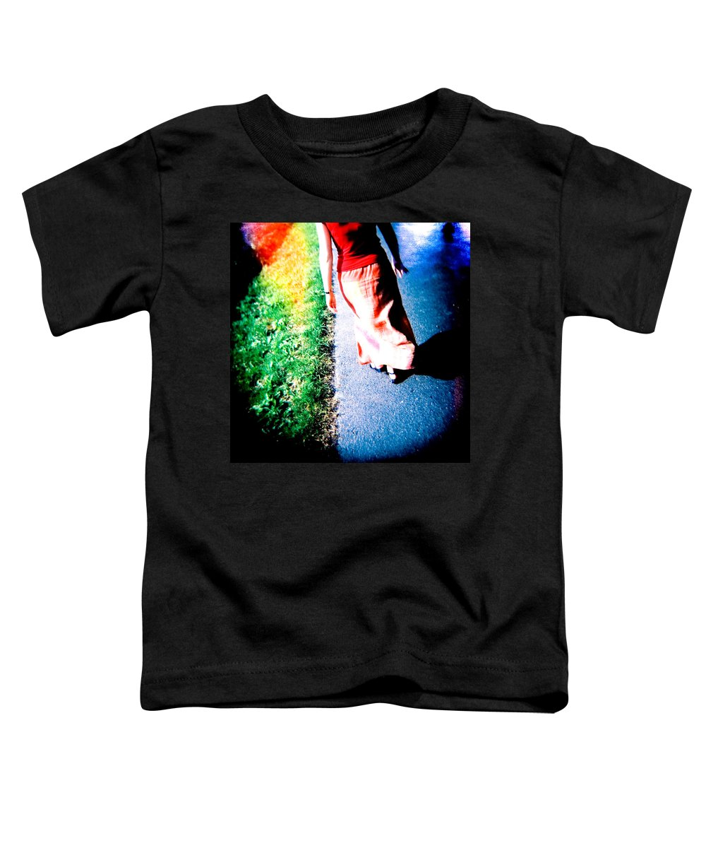 Color Photograph Holga Toddler T-Shirt featuring the photograph Gone by Olivier De Rycke