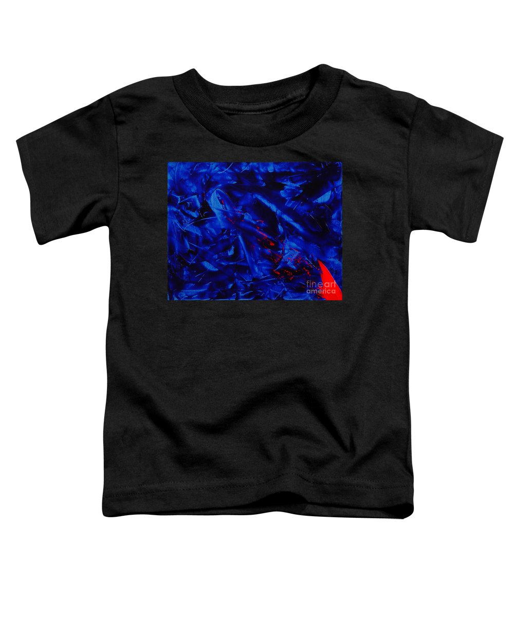 Abstract Toddler T-Shirt featuring the painting Grandma IIi by Dean Triolo