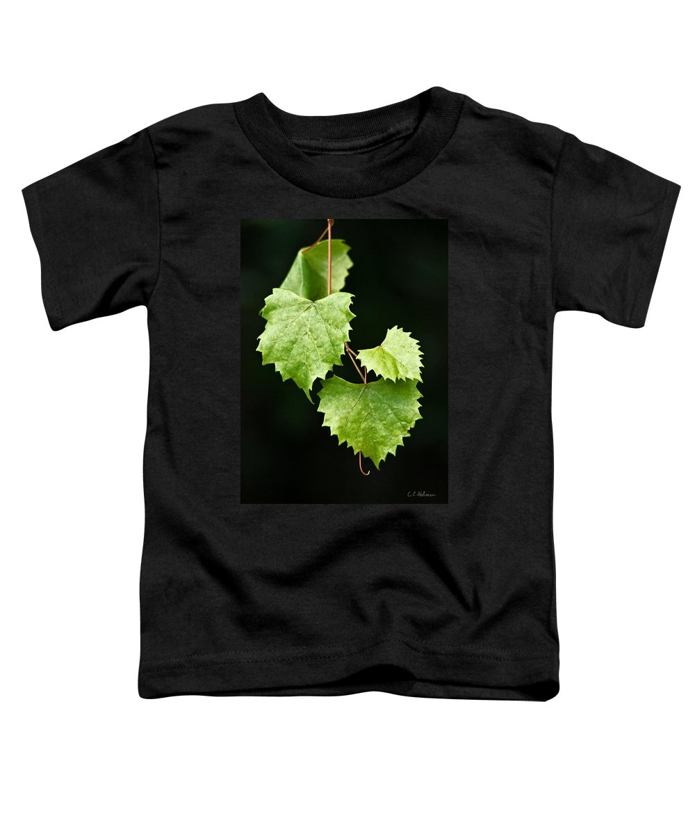 Flora Toddler T-Shirt featuring the photograph Green Leaves by Christopher Holmes