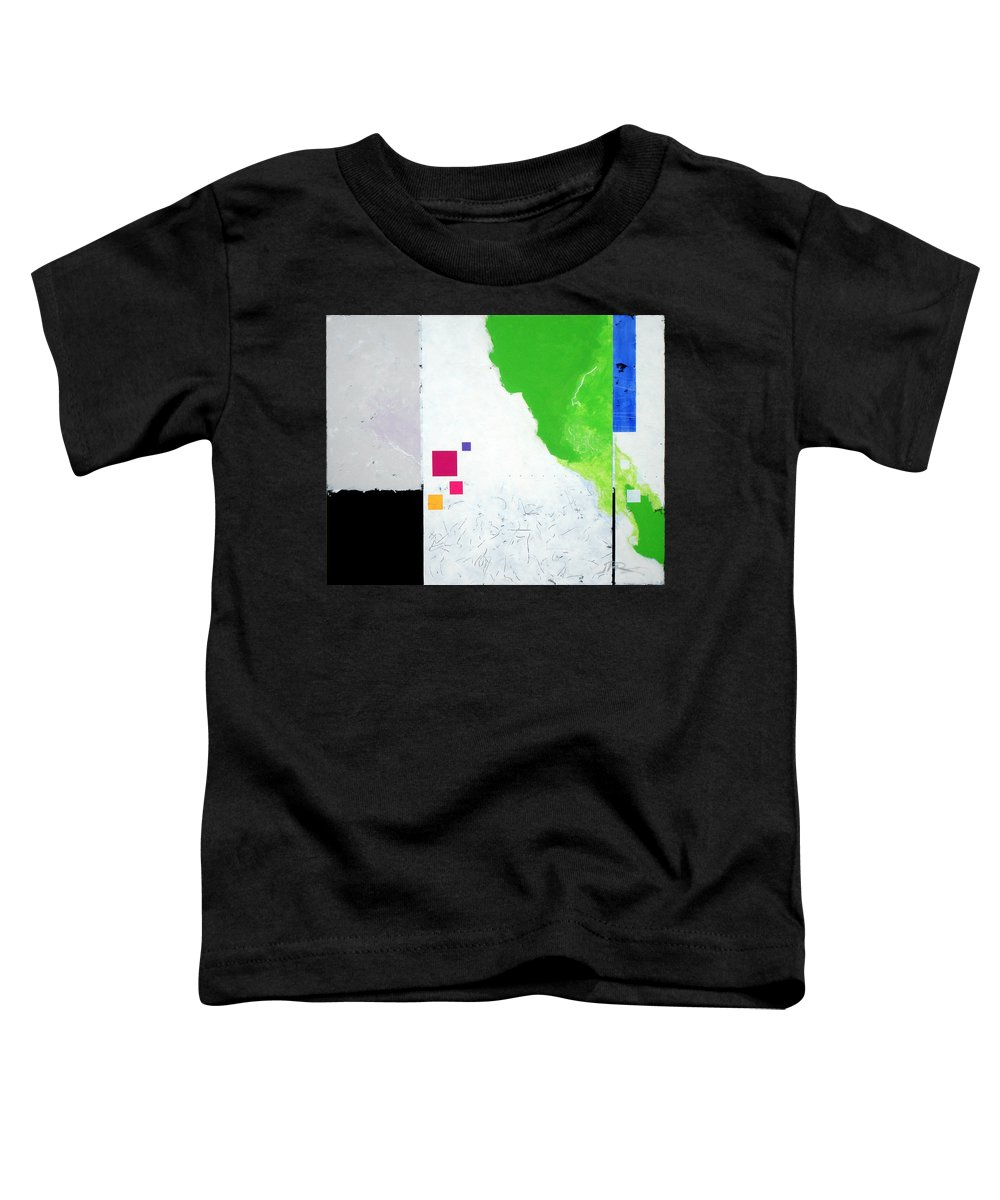 Abstract Toddler T-Shirt featuring the painting Green Movement by Jean Pierre Rousselet