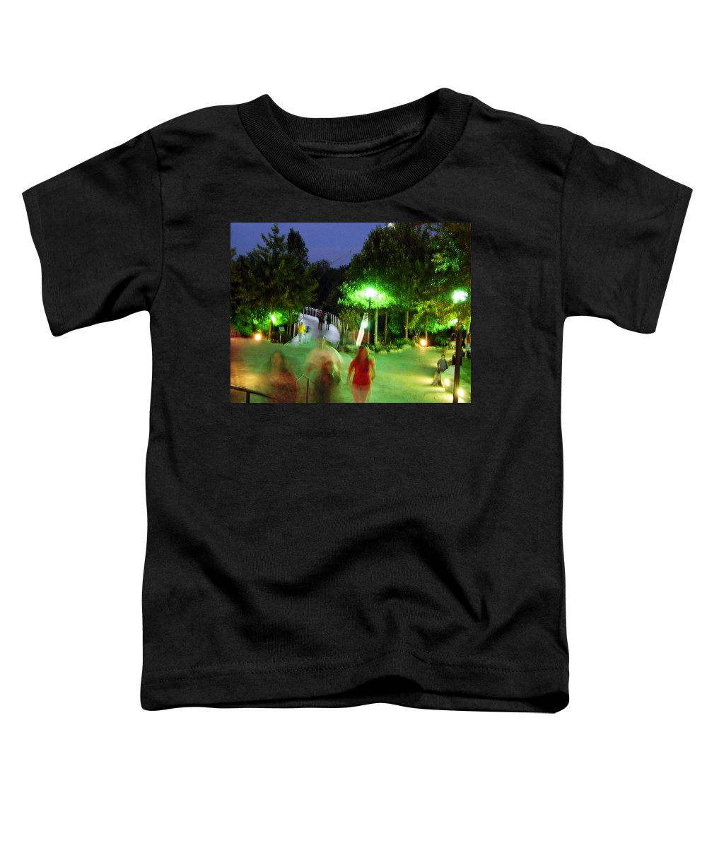 Falls Park Toddler T-Shirt featuring the photograph Greenville At Night by Flavia Westerwelle