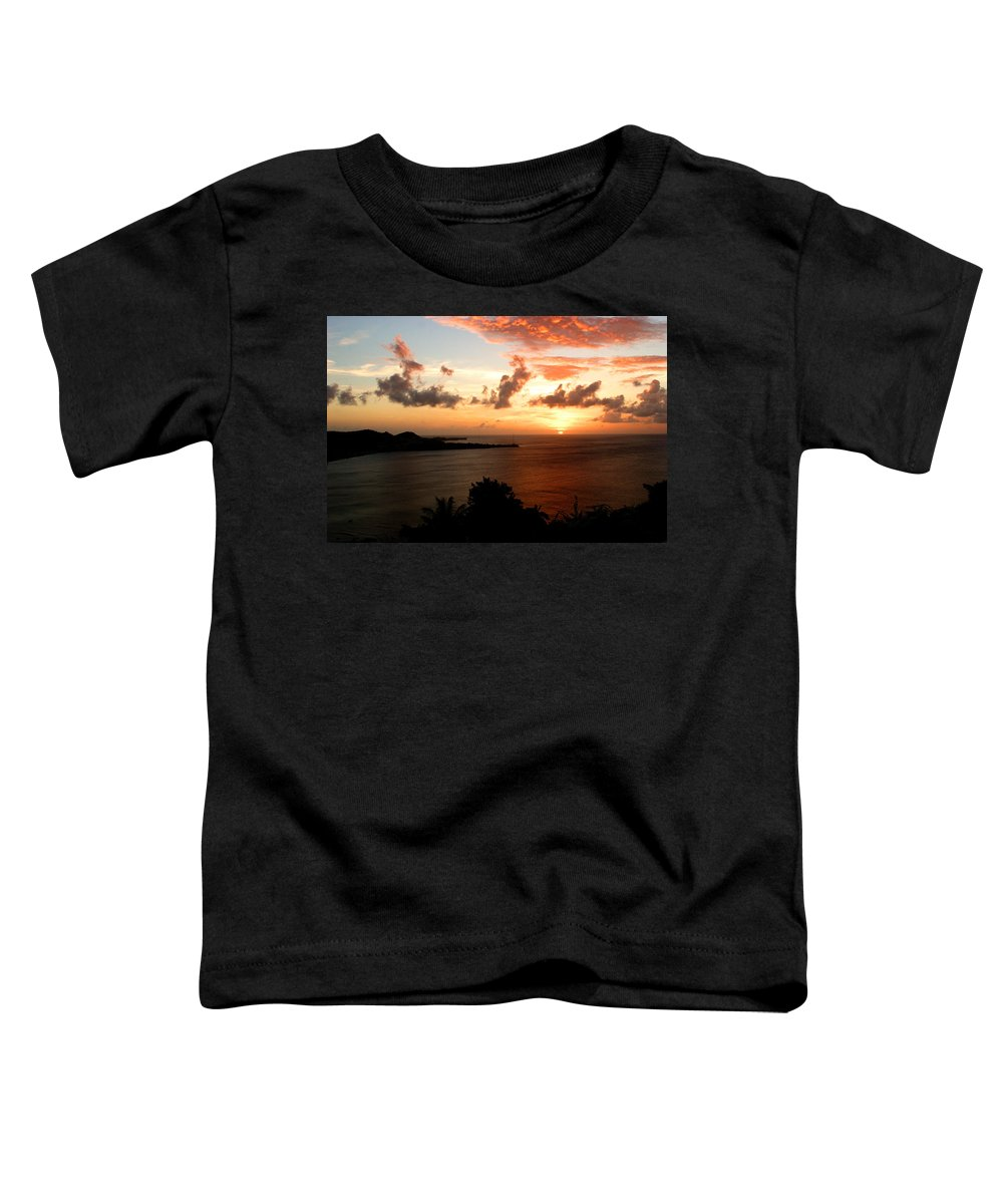 Sunset Toddler T-Shirt featuring the photograph Grenadian Sunset II by Jean Macaluso