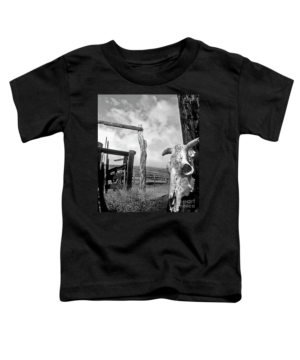 Black And White Toddler T-Shirt featuring the photograph Guardian Spirit by Jim Cazel