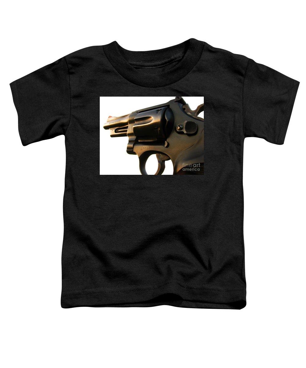 Gun Toddler T-Shirt featuring the photograph Gun Series by Amanda Barcon
