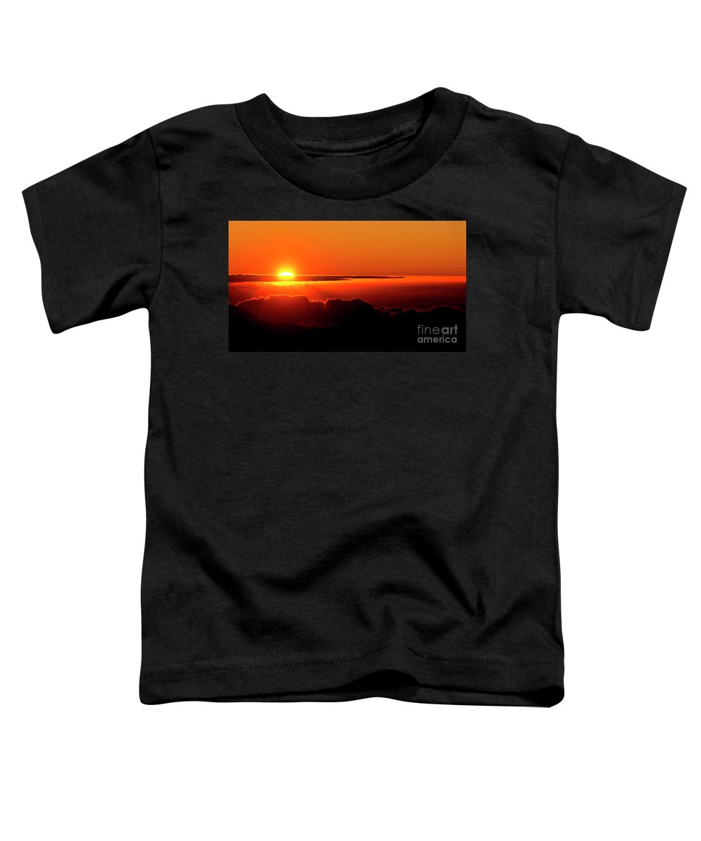 Sunrise Toddler T-Shirt featuring the photograph Maui Hawaii Haleakala National Park Sunrise IIi by Jim Cazel