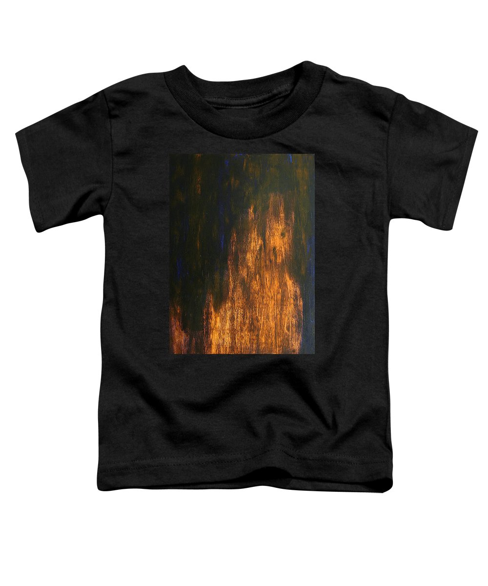 Mystery Toddler T-Shirt featuring the painting Half-faced 2007 by RalphGM