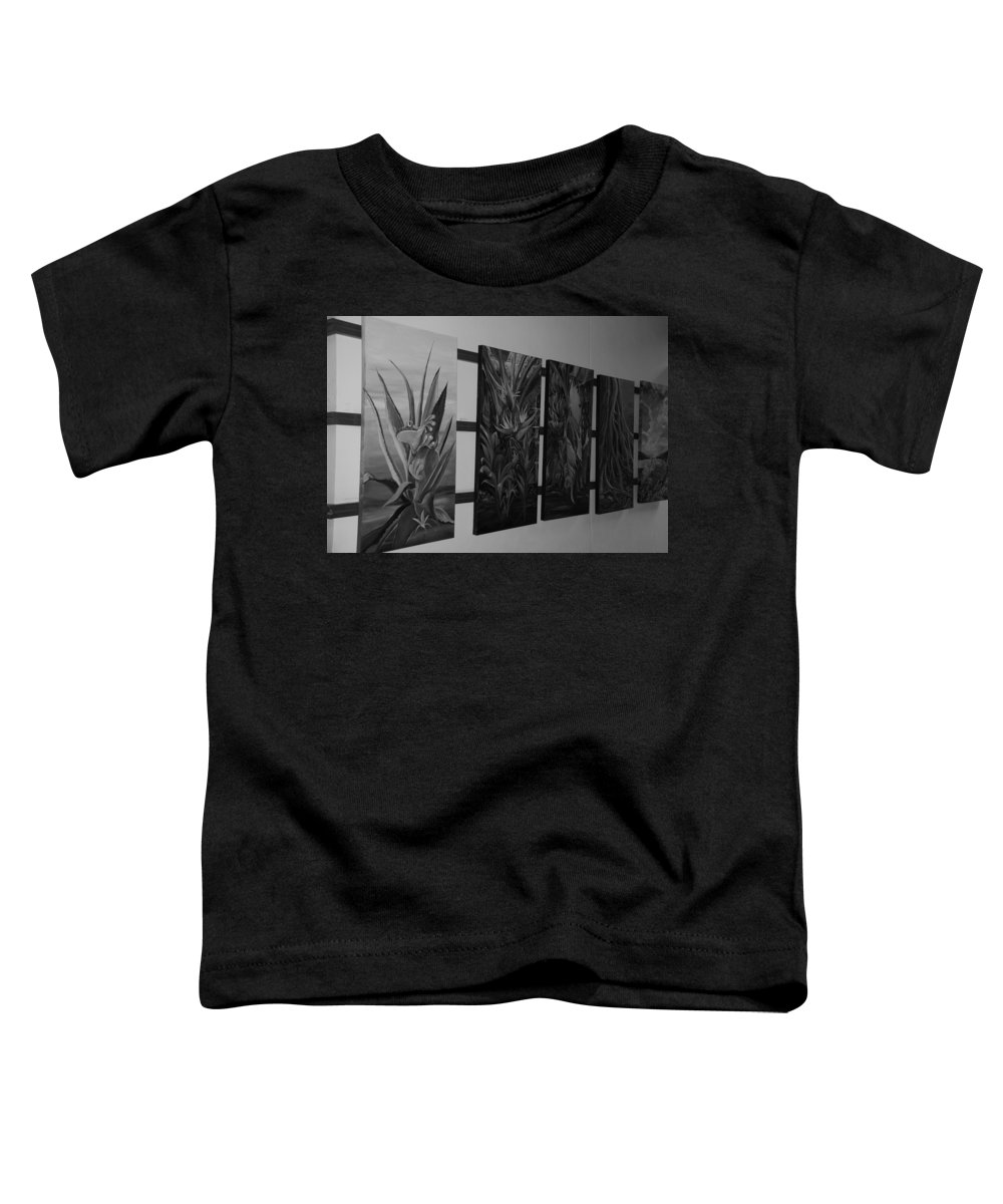 Black And White Toddler T-Shirt featuring the photograph Hanging Art by Rob Hans