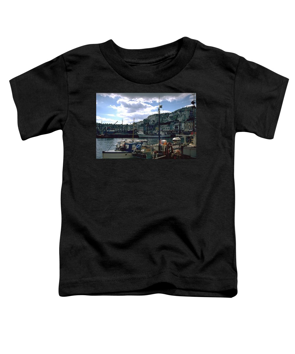 Great Britain Toddler T-Shirt featuring the photograph Harbor II by Flavia Westerwelle