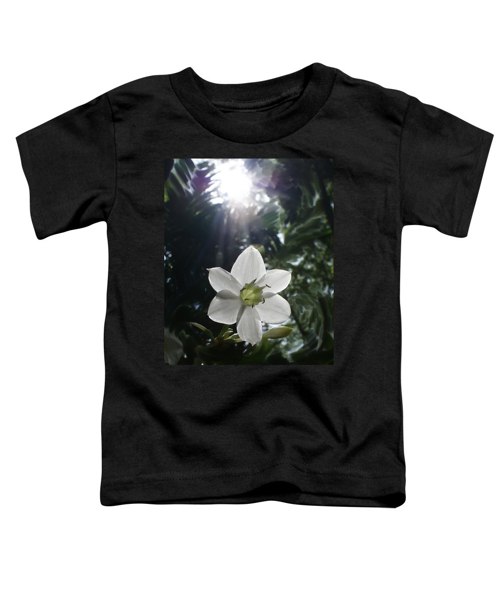 Hawaiian Toddler T-Shirt featuring the photograph Hawaiian Flower by Heather Coen