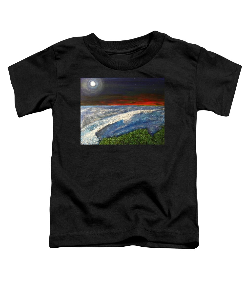 Beaches Toddler T-Shirt featuring the painting Hawiian View by Michael Cuozzo