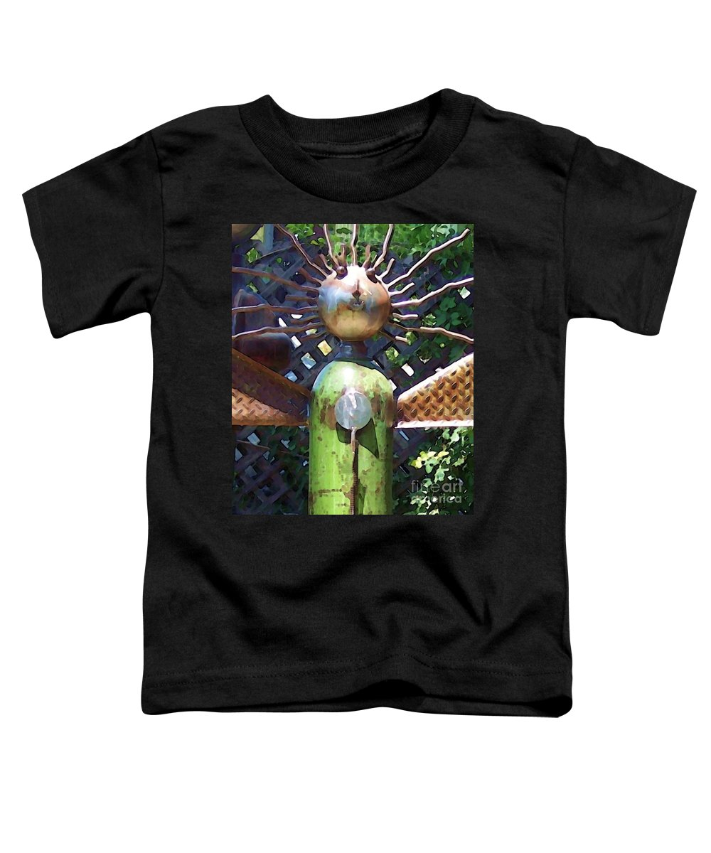 Sculpture Toddler T-Shirt featuring the photograph Head For Detail by Debbi Granruth