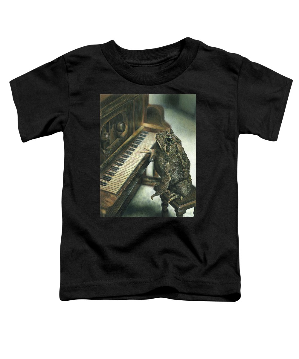 Heart Toddler T-Shirt featuring the drawing Heart Of The Symphony by Cara Bevan