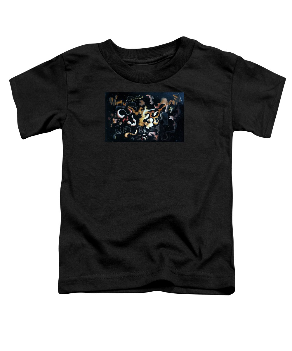 Abstract Toddler T-Shirt featuring the painting Herculean Construction by Dave Martsolf