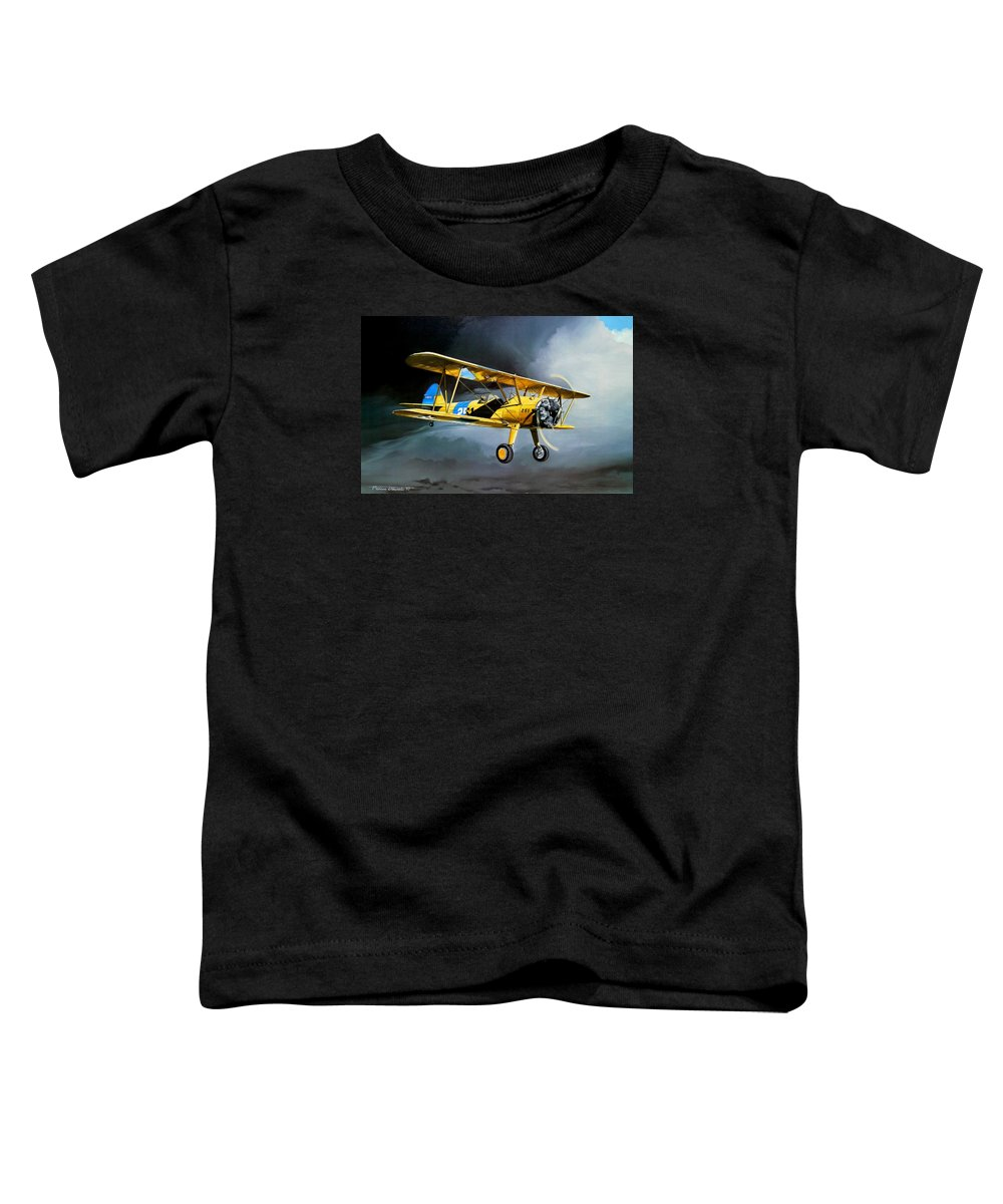 Military Toddler T-Shirt featuring the painting Here Comes The Sun by Marc Stewart