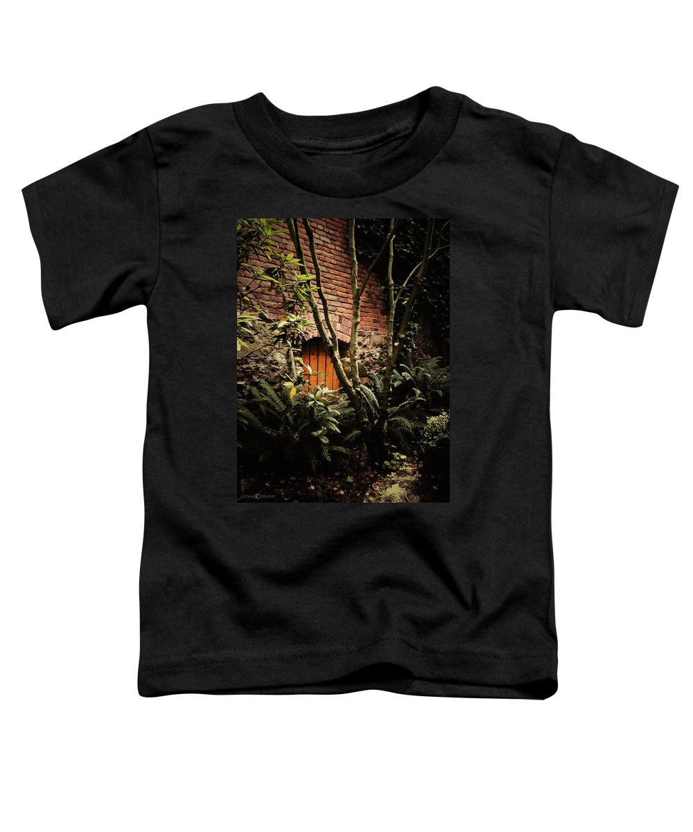 Brick Toddler T-Shirt featuring the photograph Hidden Passage by Tim Nyberg