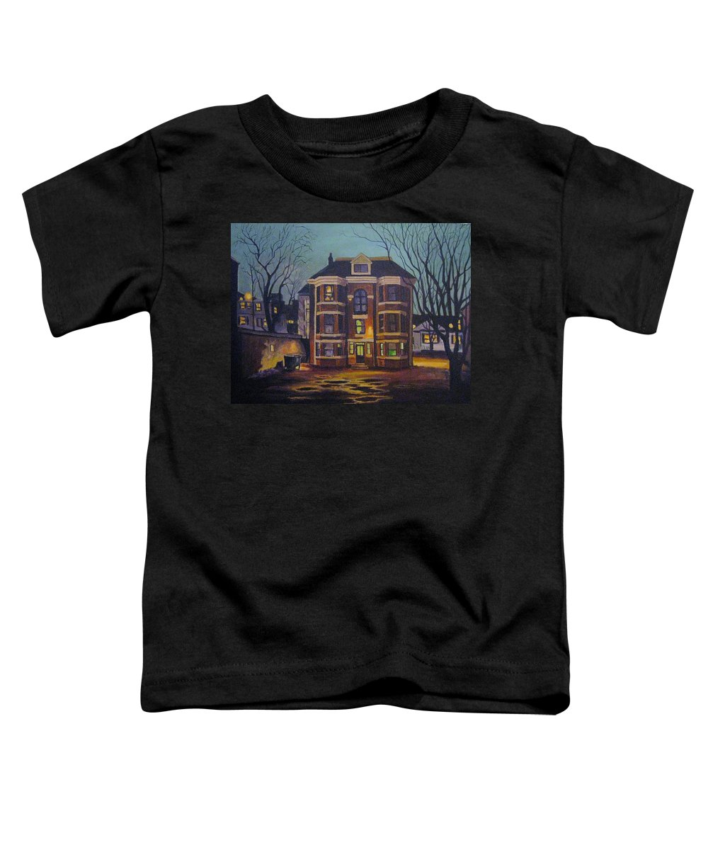 Moody Toddler T-Shirt featuring the painting Historic Property South End Haifax by John Malone