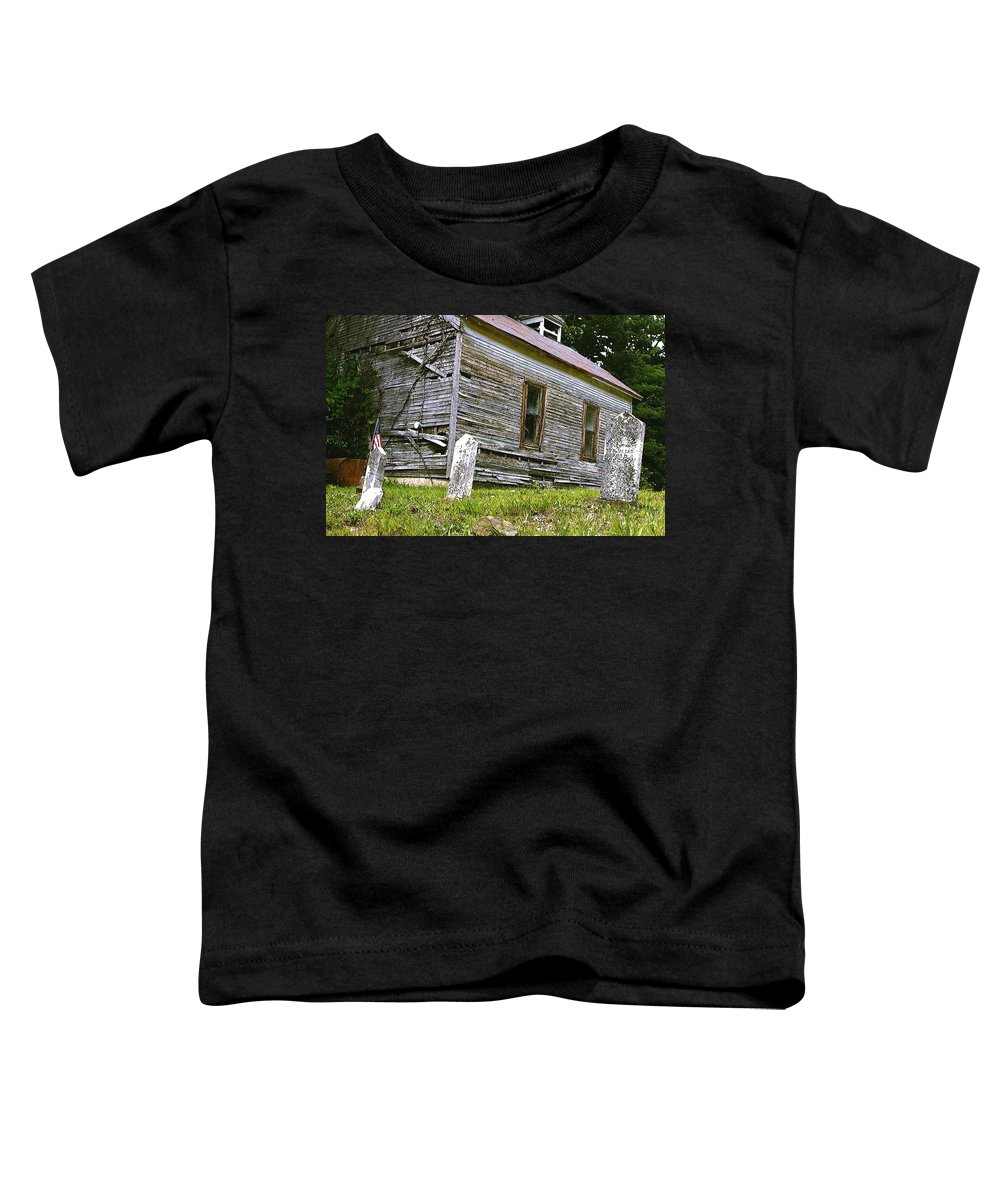 Church Toddler T-Shirt featuring the photograph Hocking Hills Church by Nelson Strong