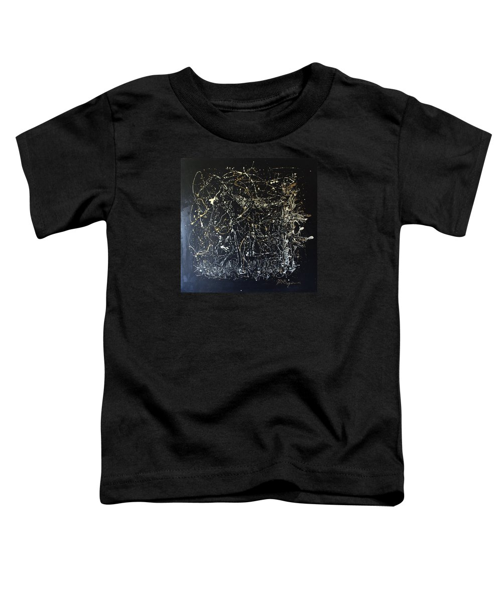 Horse In Pasture Toddler T-Shirt featuring the mixed media Horse In Pasture by J R Seymour