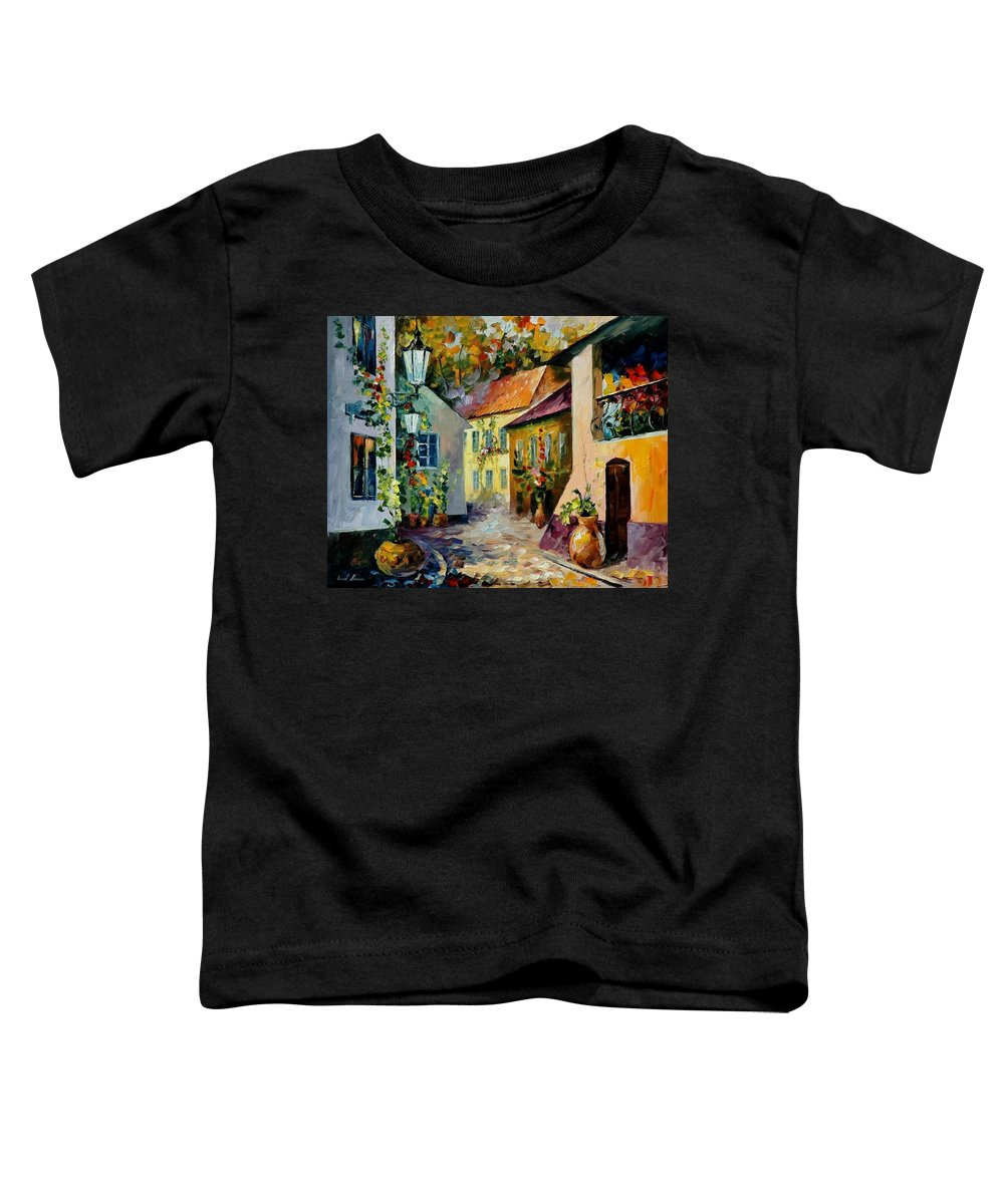 Landscape Toddler T-Shirt featuring the painting Hot Noon Original Oil Painting by Leonid Afremov