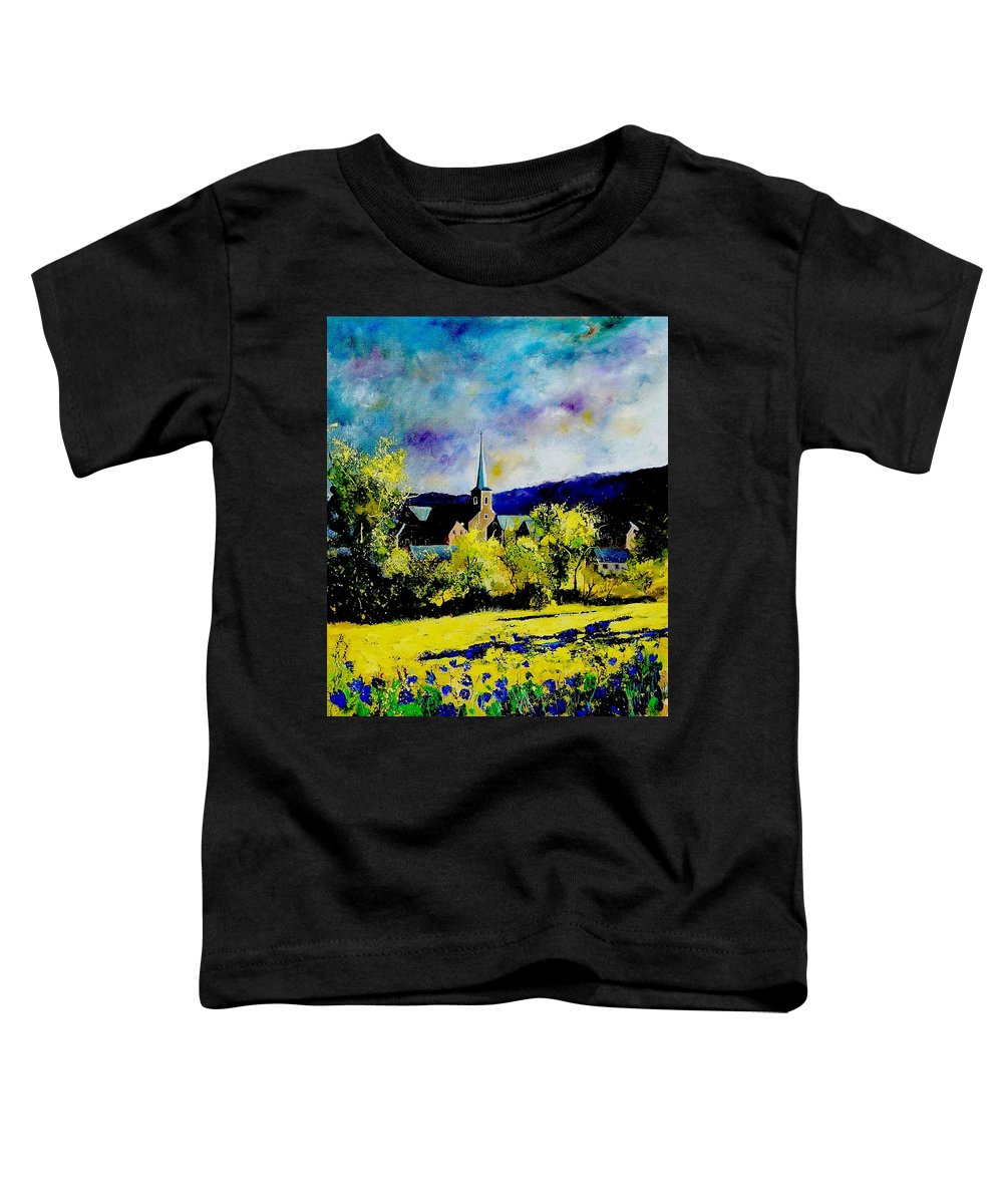 Poppies Toddler T-Shirt featuring the painting Hour Village Belgium by Pol Ledent