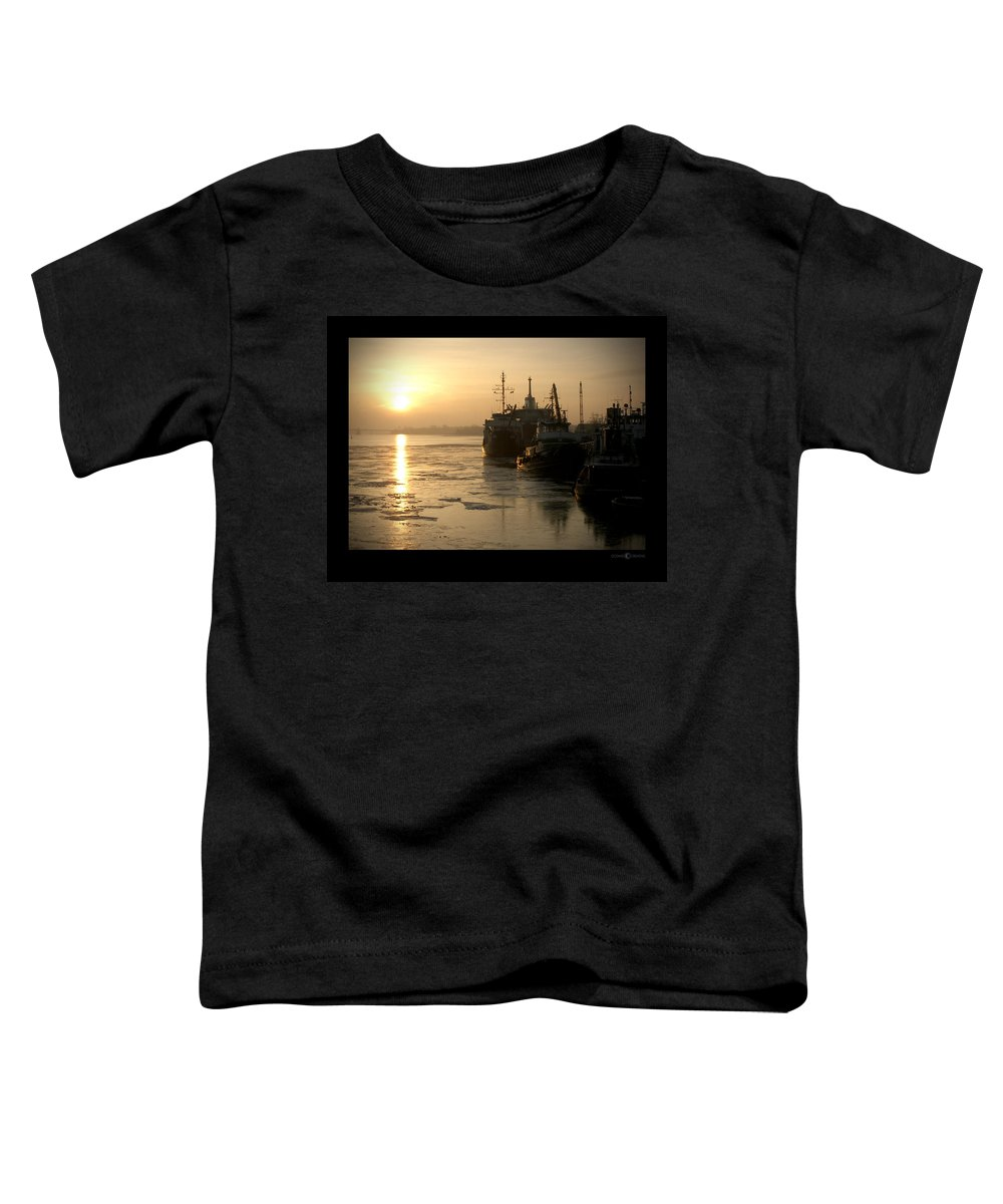 Boat Toddler T-Shirt featuring the photograph Huddled Boats by Tim Nyberg