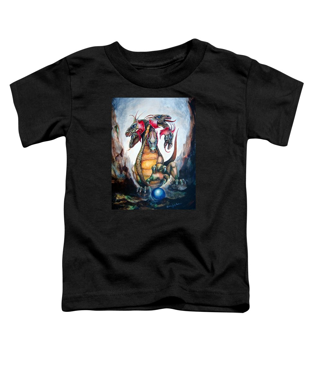 Hydra Toddler T-Shirt featuring the painting Hydra by Leyla Munteanu