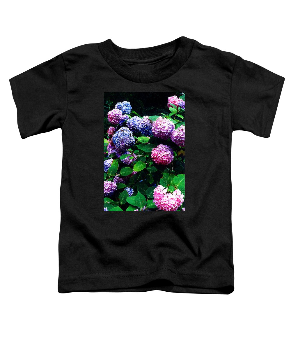Flowers Toddler T-Shirt featuring the photograph Hydrangeas by Nancy Mueller