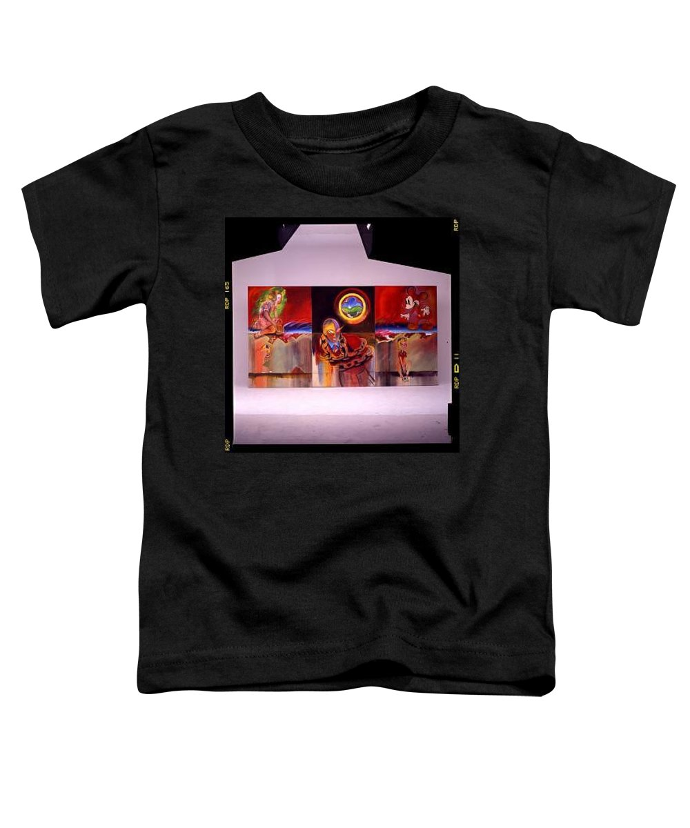 Spiderman Toddler T-Shirt featuring the painting I Saw The Figure Five In Gold by Charles Stuart