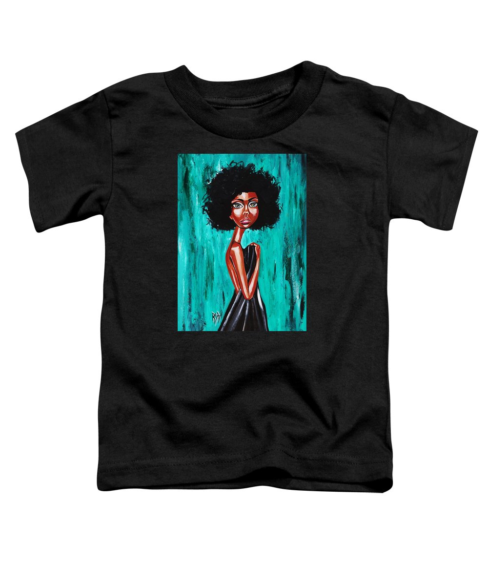 Afro Toddler T-Shirt featuring the photograph If From Past Sins Ive Been Washed Clean-why Do I Feel So Dirty by Artist RiA