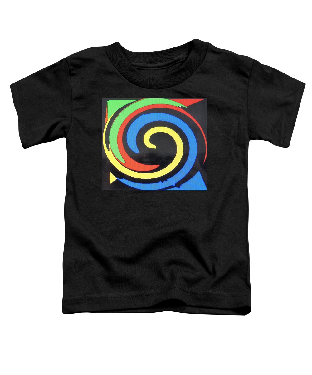 Red Toddler T-Shirt featuring the digital art In Balance by Ian MacDonald