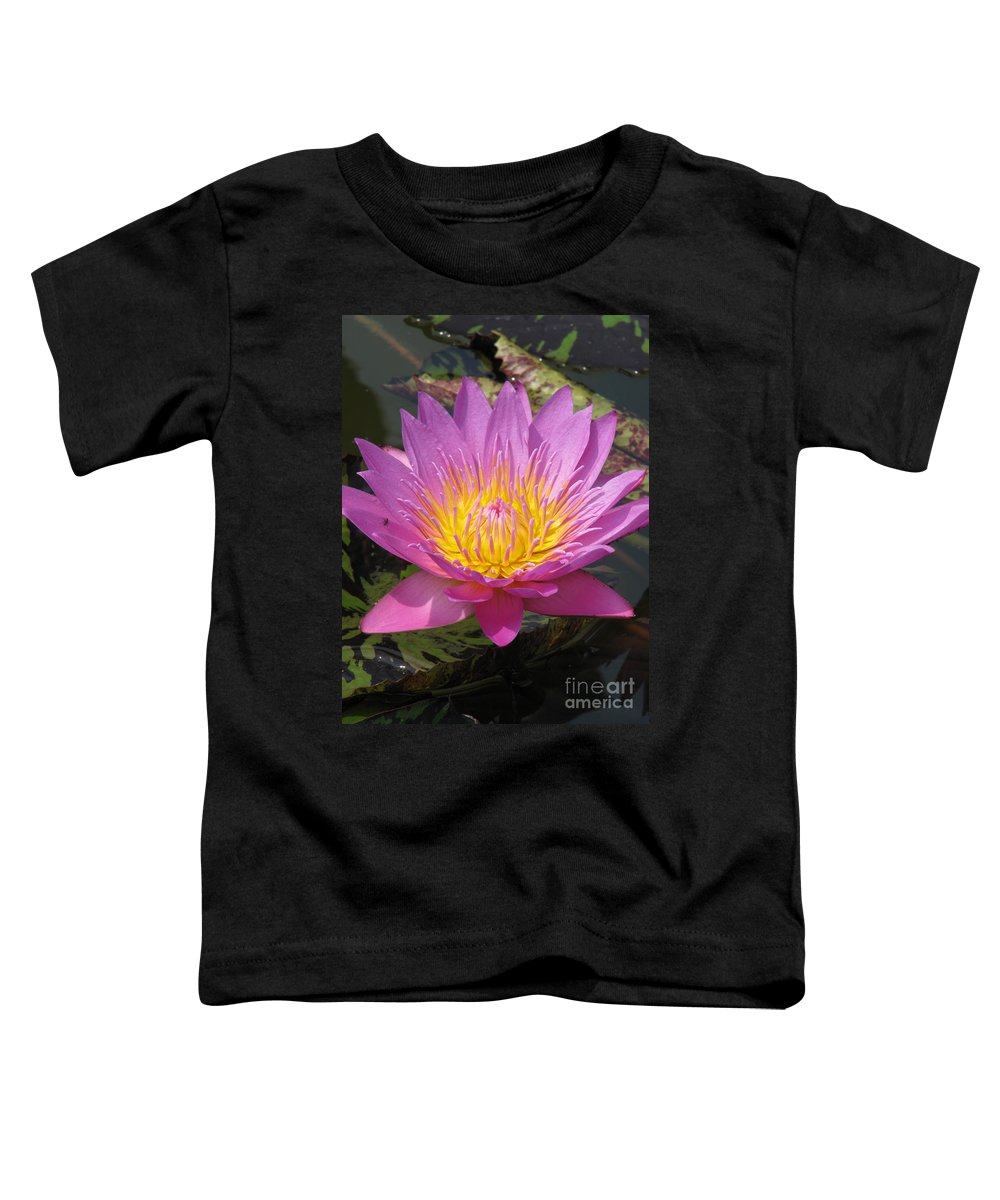 Lotus Toddler T-Shirt featuring the photograph In Position by Amanda Barcon