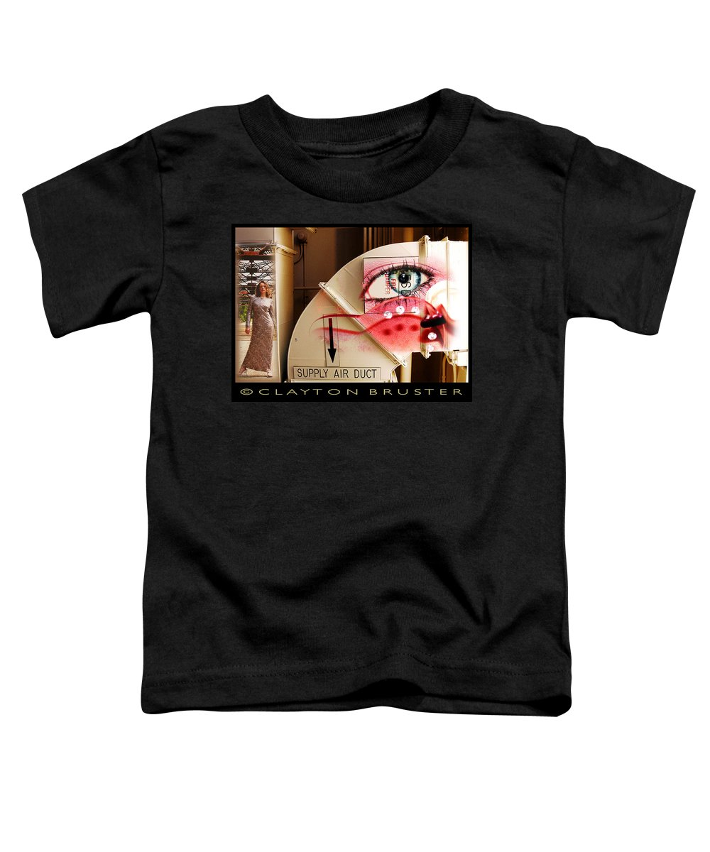 Toddler T-Shirt featuring the photograph Industrial Ceiling Dreams by Clayton Bruster