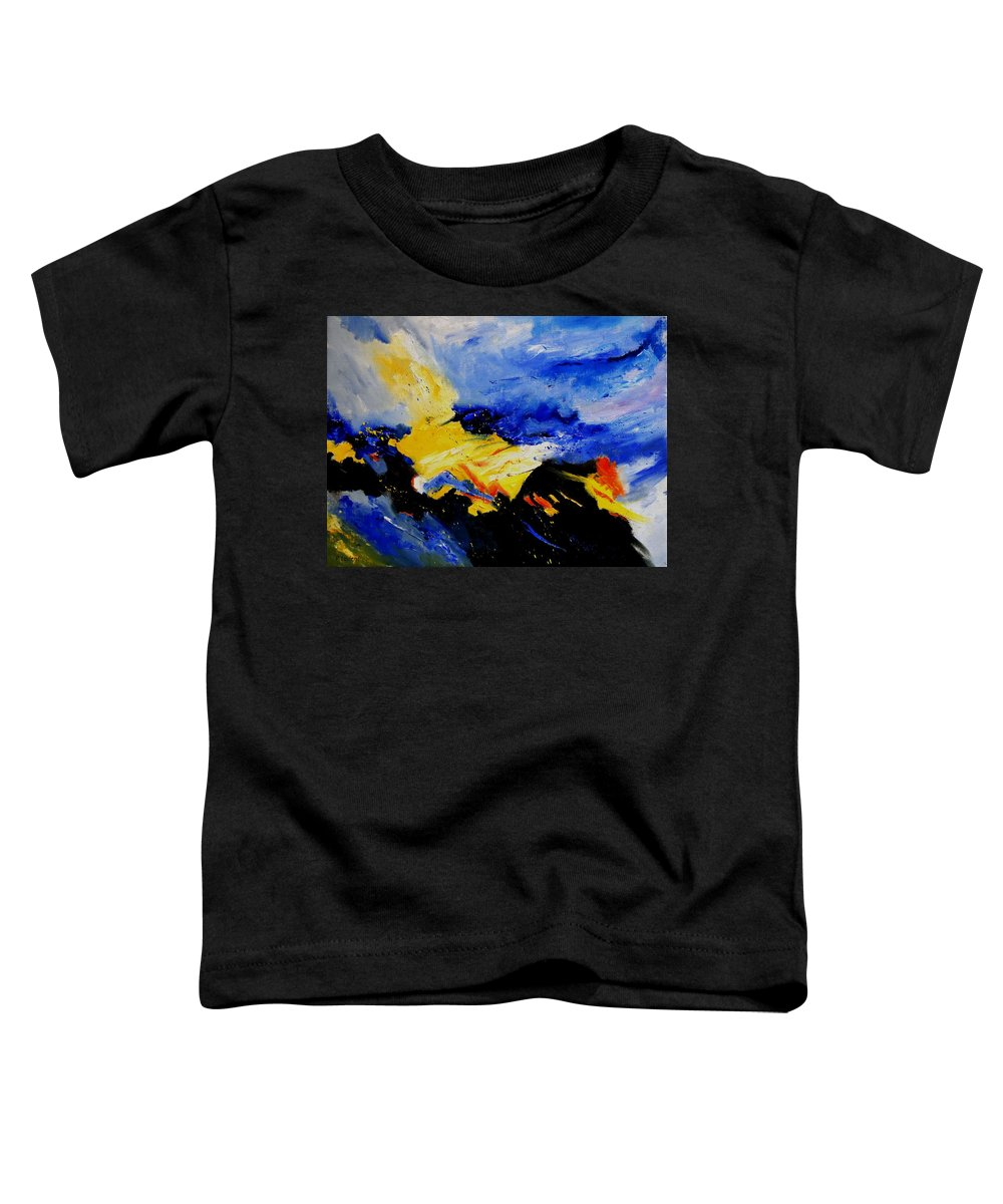 Abstract Toddler T-Shirt featuring the painting Interstellar Overdrive 2 by Pol Ledent