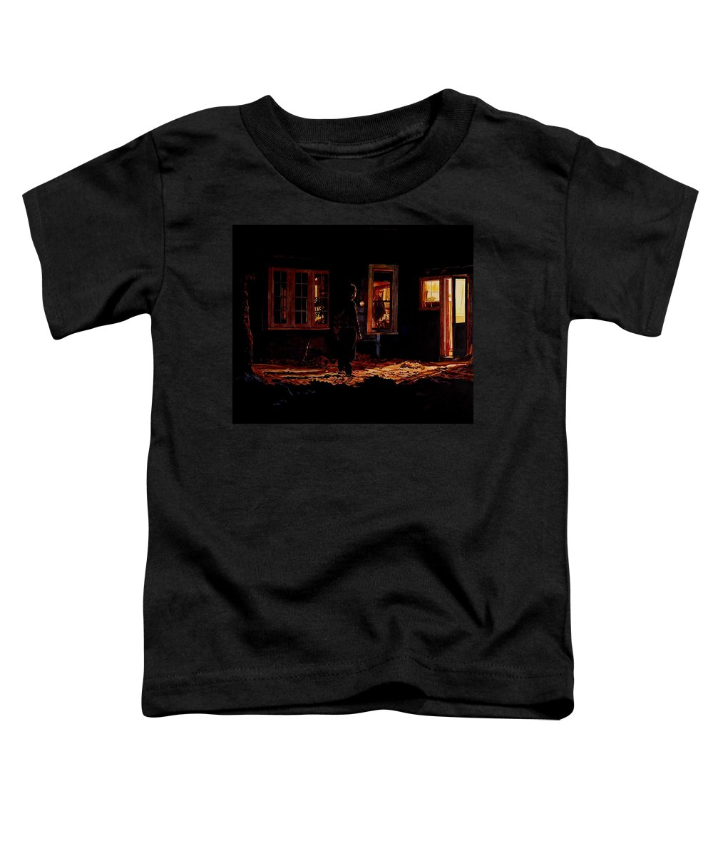 Night Toddler T-Shirt featuring the painting Into The Night by Valerie Patterson
