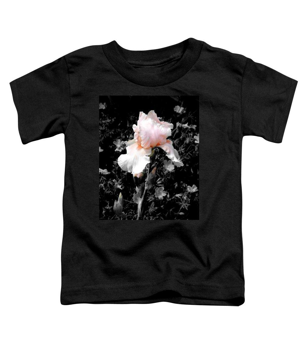 Flower Toddler T-Shirt featuring the photograph Iris Emergance by Steve Karol