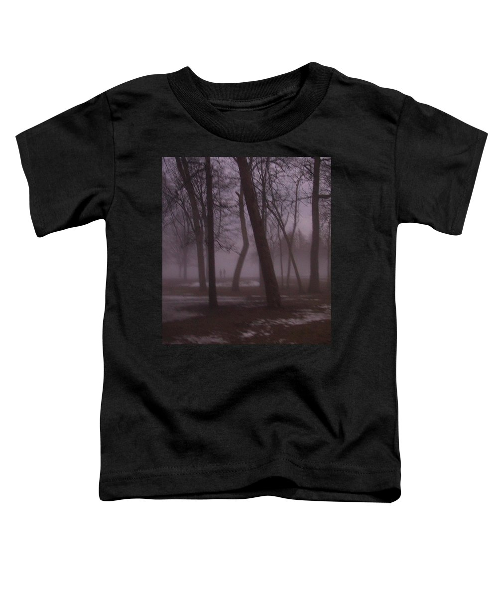 January Toddler T-Shirt featuring the photograph January Fog 1 by Anita Burgermeister