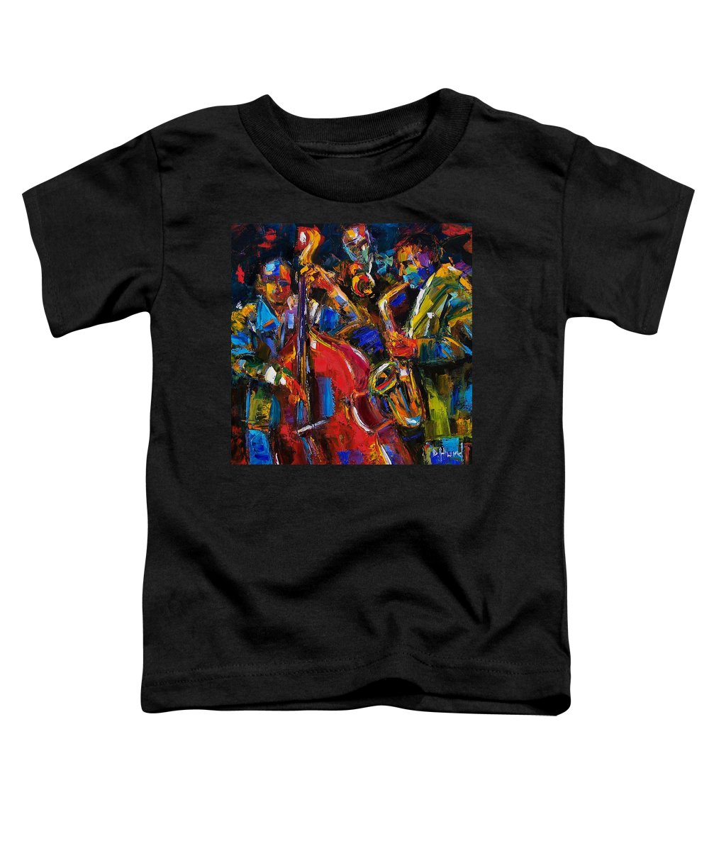 Jazz Toddler T-Shirt featuring the painting Jazz by Debra Hurd