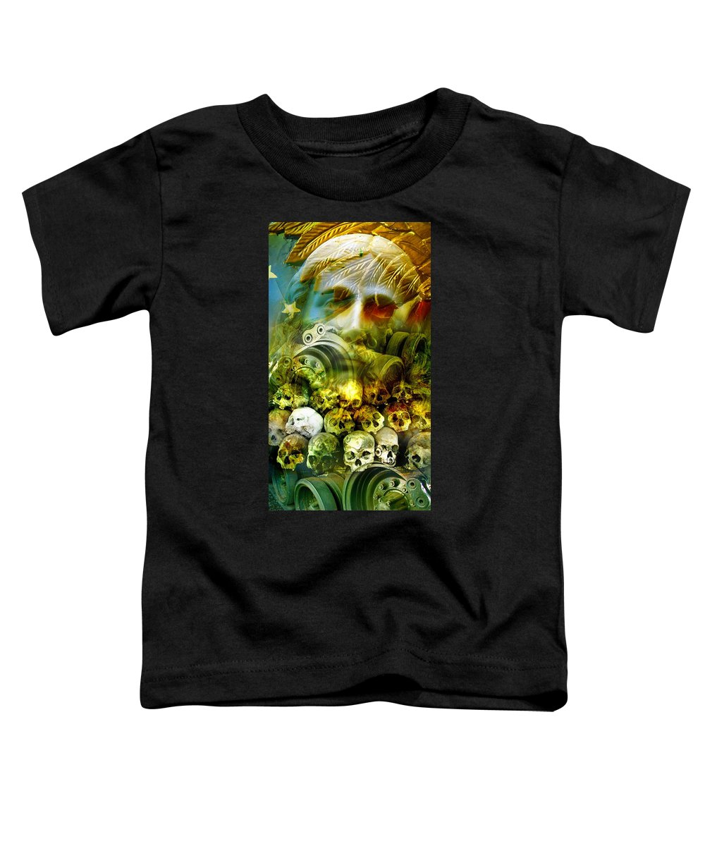Jesus Toddler T-Shirt featuring the photograph Jesus Wept by Skip Hunt