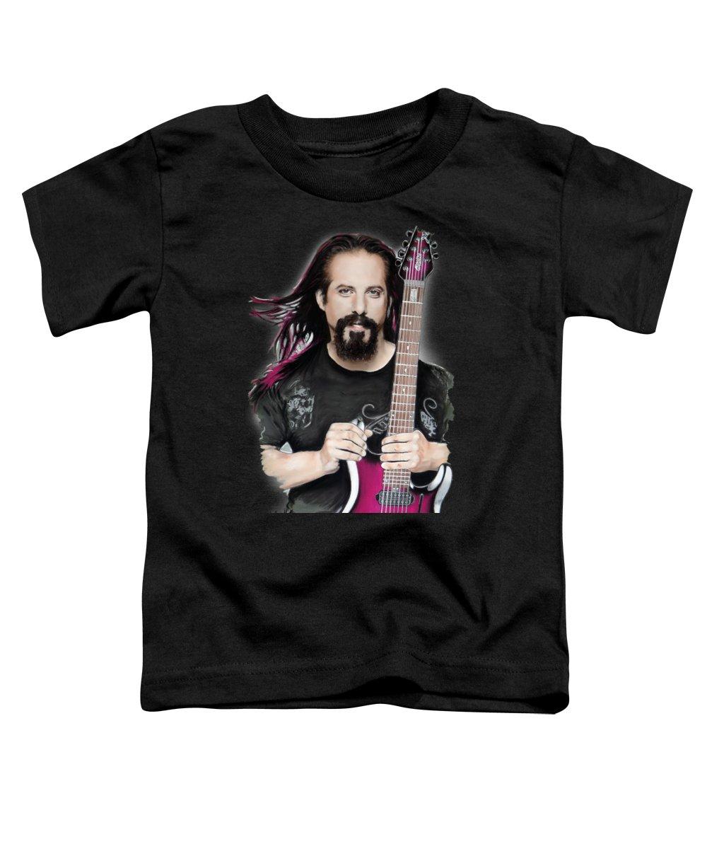 John Petrucci Toddler T-Shirt featuring the mixed media John Petrucci by Melanie D