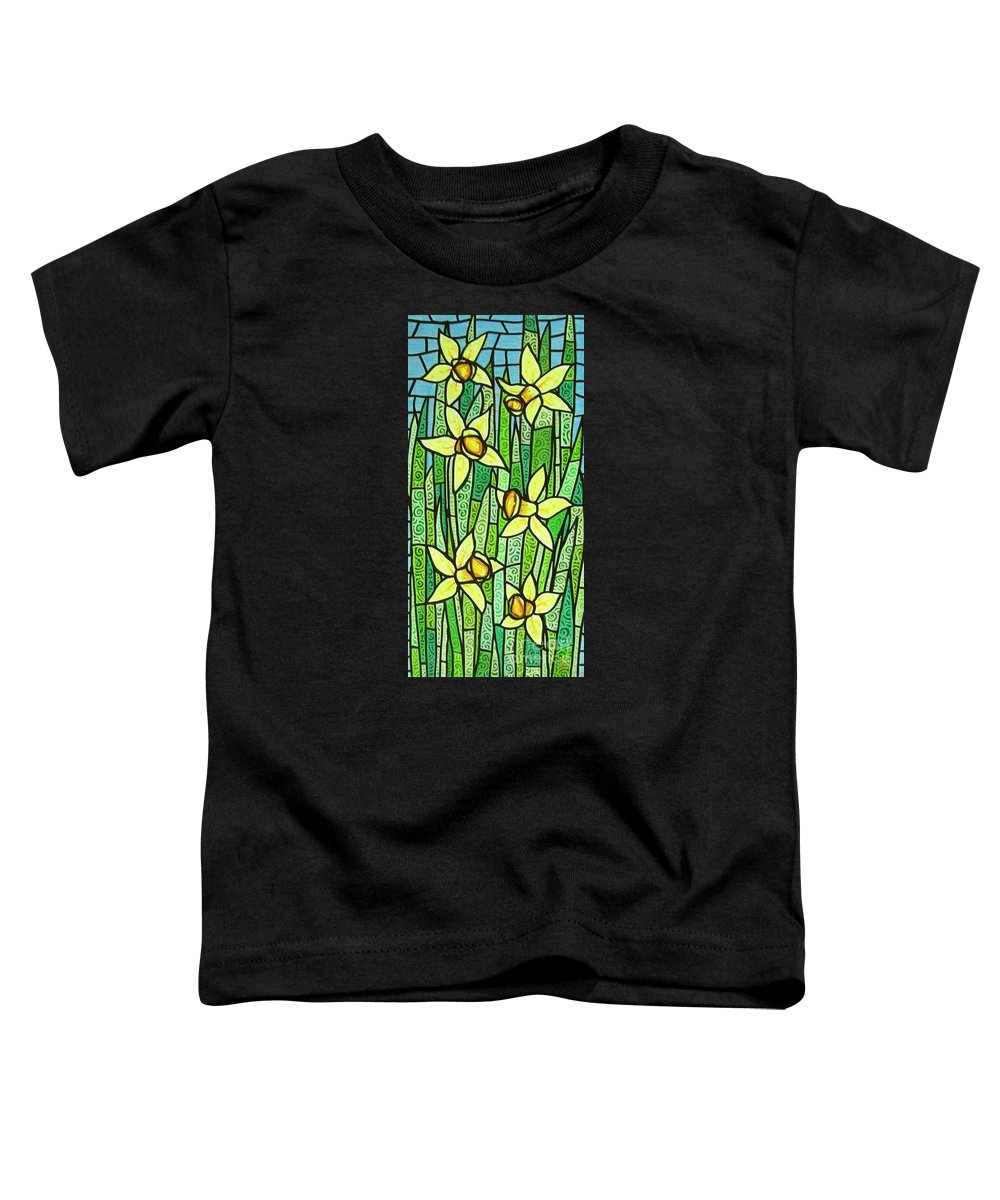 Jonquils Toddler T-Shirt featuring the painting Jonquil Glory by Jim Harris