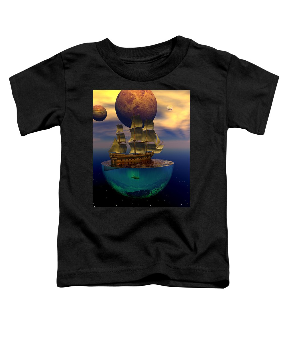 Bryce Toddler T-Shirt featuring the digital art Journey Into Imagination by Claude McCoy