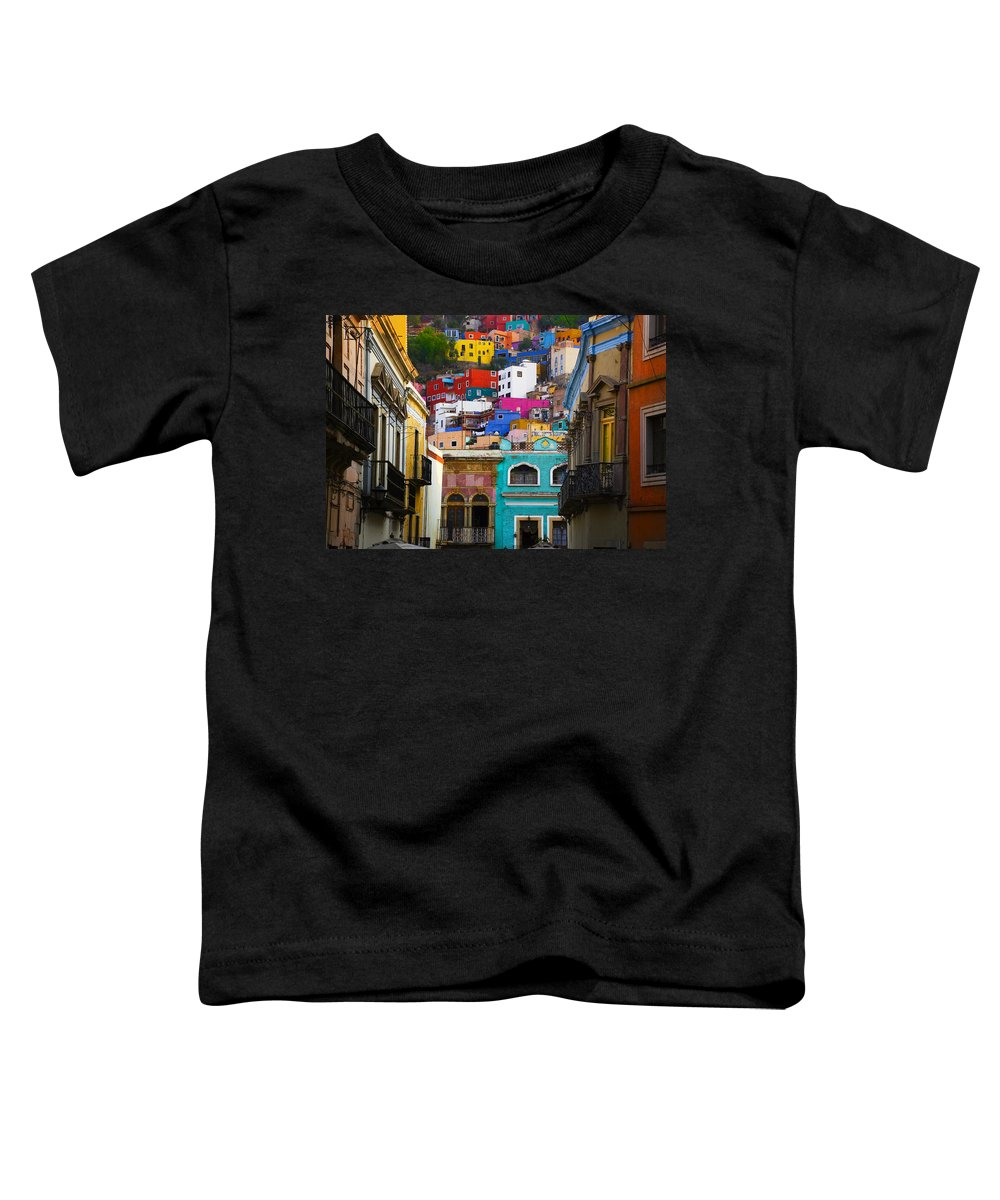 Architecture Toddler T-Shirt featuring the photograph Juegos In Guanajuato by Skip Hunt