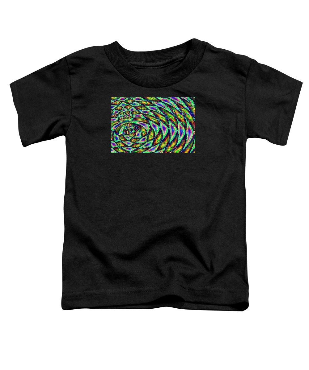 Computer Art Toddler T-Shirt featuring the digital art Kiwi by Dave Martsolf