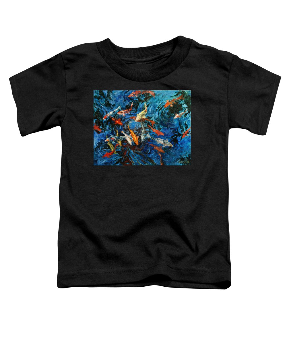 Koi Toddler T-Shirt featuring the painting Koi IIi by Rick Nederlof
