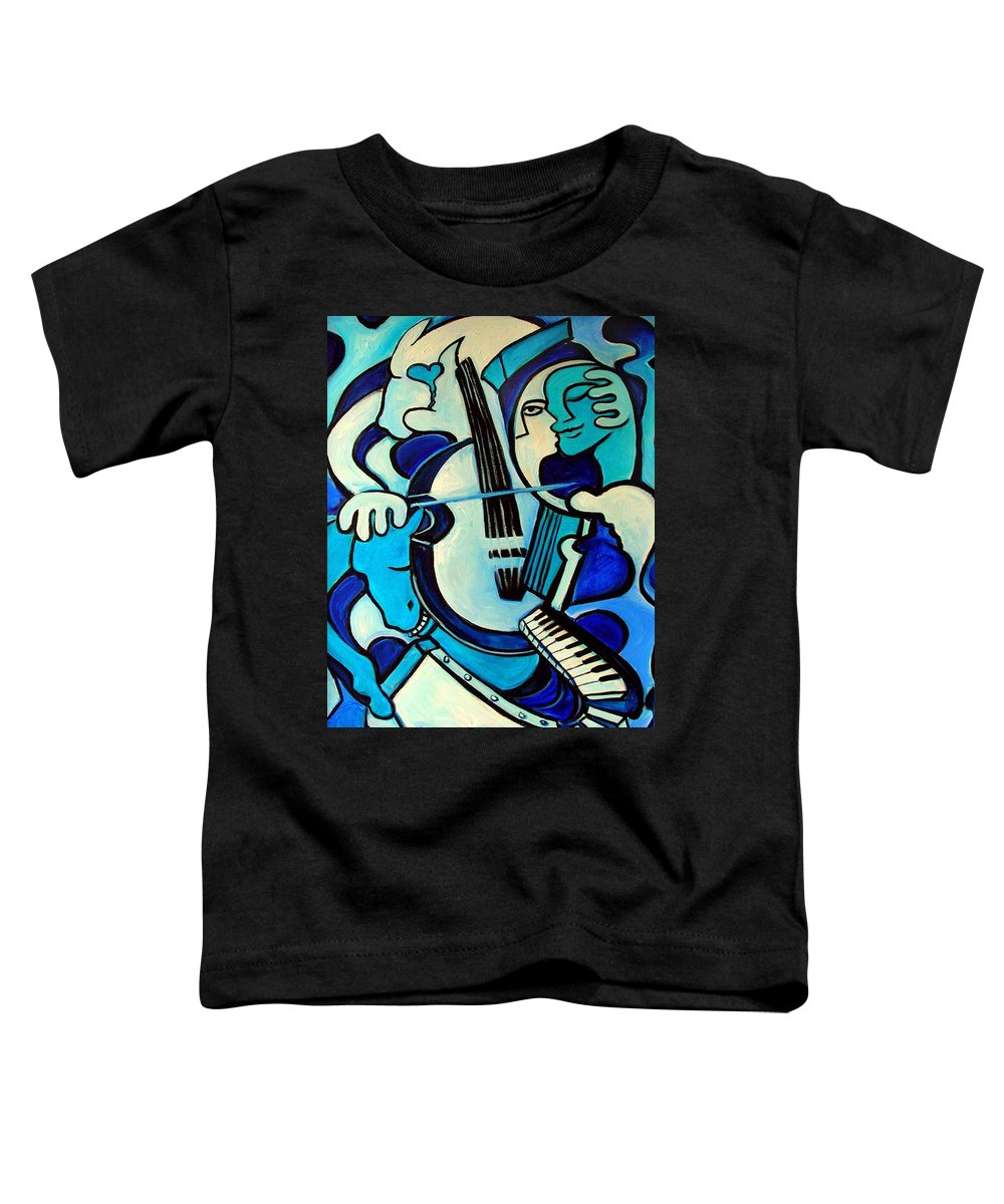 Abstract Toddler T-Shirt featuring the painting L Amour Ou Quoi by Valerie Vescovi